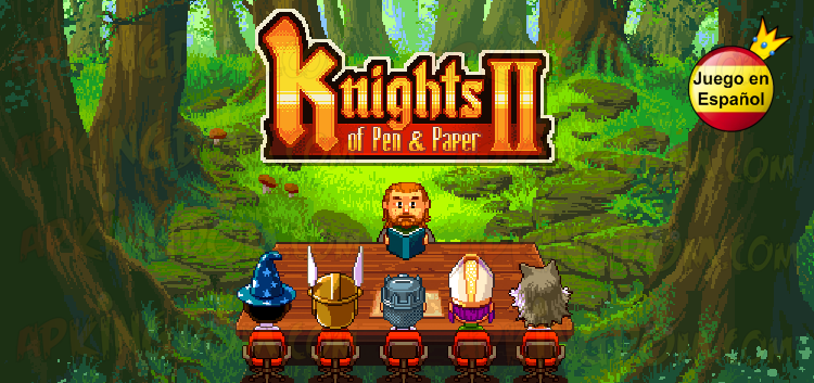 Portada Descargar Knights of Pen & Paper 2 Premium Español Pro Full v1.05 .apk 1.05 APK 1.05b99 Android Apkingdom Tablet Móvil Papel Boli Download Zippyshare lolabits RPG